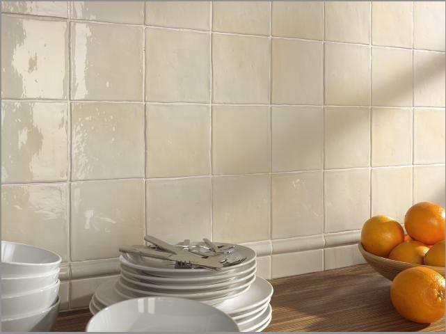 Carrelages, Mosaïques et Galets Cuisine Mural - MANISES BEIGE MIX ...