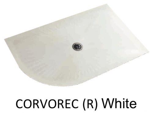 receveurs de douches longueur 110 receveur de douche 110 cm en r sine avec courbe quart de. Black Bedroom Furniture Sets. Home Design Ideas