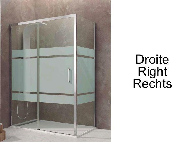 Paroi de douche accessoires largeur 70 longueur 70 170 for Porte 70 cm largeur