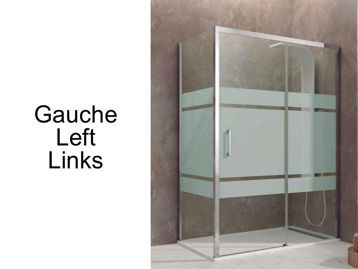 paroi de douche accessoires largeur 70 longueur 70 170 cm porte de douche coulissante avec 2. Black Bedroom Furniture Sets. Home Design Ideas