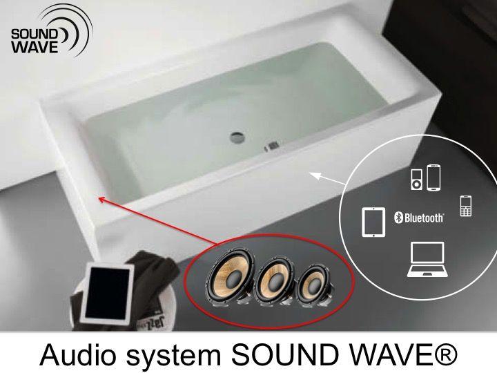 Meubles lave mains robinetteries baignoires syst me - Systeme audio salle de bain ...