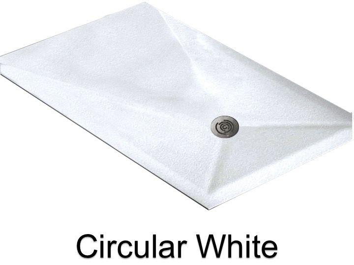receveurs de douches longueur 115 receveur de douche 115 cm en r sine sur mesure circular blanc. Black Bedroom Furniture Sets. Home Design Ideas