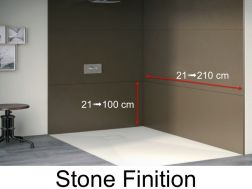 panneaux muraux en rsine de la couleur des receveurs de douche finition stone roche