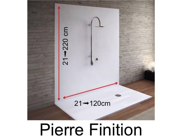 panneaux muraux en r sine de la couleur des receveurs de douche finition pierre. Black Bedroom Furniture Sets. Home Design Ideas