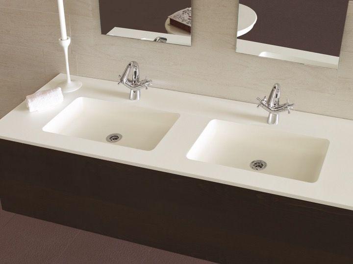 vasques largeur 80 plan vasque suspendue ou encastrer largeur 80 cm en r sine selene gris. Black Bedroom Furniture Sets. Home Design Ideas