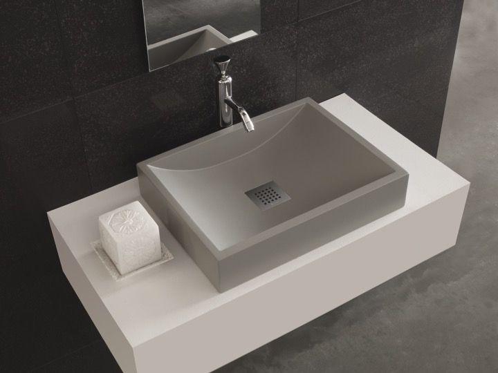 Vasque Suspendue Ou à Poser Lavabo 38 X 50 Cm En Résine De