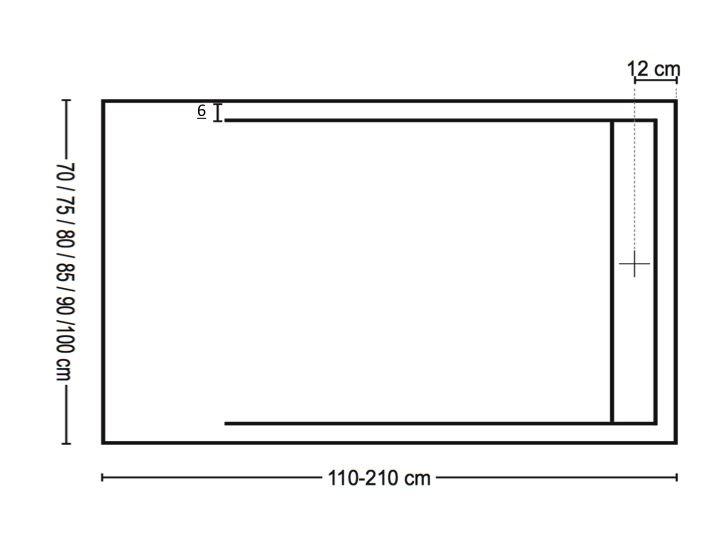 receveurs de douches longueur 180 receveur de douche 180 cm en r sine caniveau extra plat. Black Bedroom Furniture Sets. Home Design Ideas
