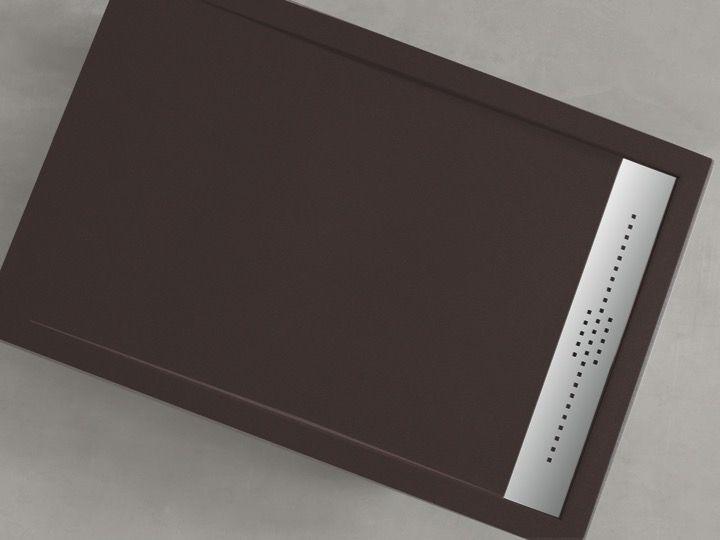 receveur de douche 180 cm en r sine caniveau extra plat senda lisso blanc. Black Bedroom Furniture Sets. Home Design Ideas