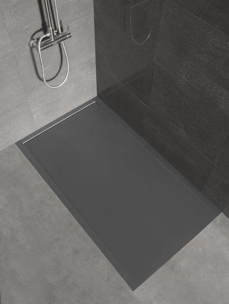 receveurs de douches longueur 150 receveur de douche 150 cm en r sine cosmo cover caniveau blanc. Black Bedroom Furniture Sets. Home Design Ideas