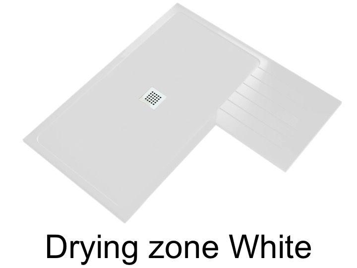 receveur de douche avec zone de sechage