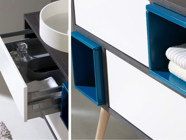 Meuble salle de bain avec pied meuble salle de bain for Meuble de salle de bain avec pied
