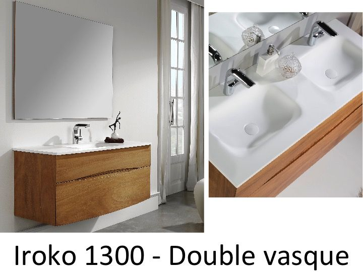 meubles lave mains robinetteries meuble sdb meuble de salle de bain en bois iroko massif. Black Bedroom Furniture Sets. Home Design Ideas