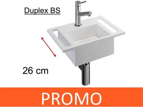 meubles lave mains robinetteries lave mains lave mains 26 cm en solid surface blanc mat. Black Bedroom Furniture Sets. Home Design Ideas