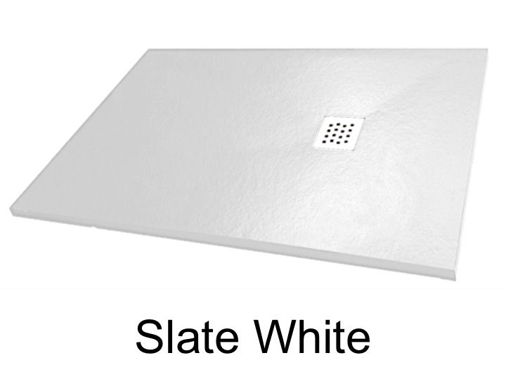 receveur de douche slate blanc