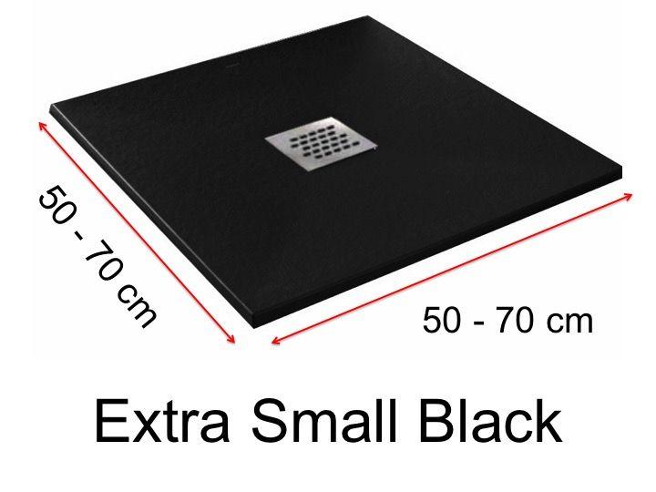 Receveur De Douche 75 Cm En Resine Extra Small Noir
