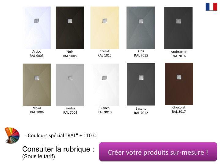 Receveur De Douche 80 Cm En Resine Bonde Centrale Noir