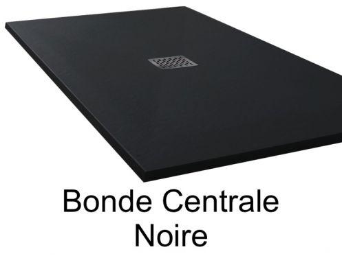 receveurs de douches longueur 90 receveur de douche 90 cm en r sine bonde centrale noir. Black Bedroom Furniture Sets. Home Design Ideas
