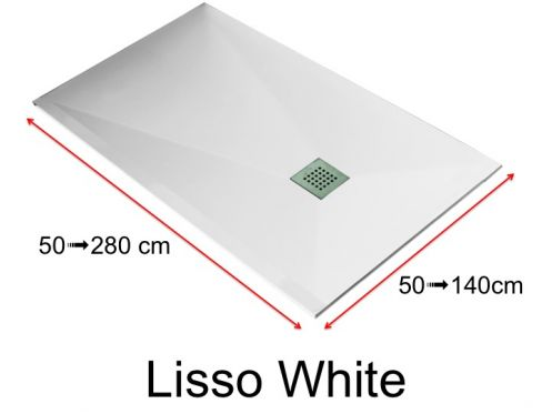 receveur de douche en r sine sur mesure 210 cm petite taille et grande dimension extra plat. Black Bedroom Furniture Sets. Home Design Ideas