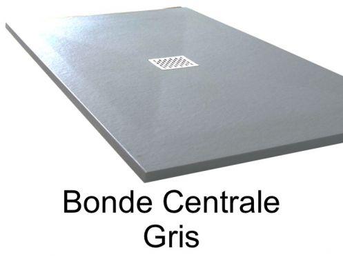receveurs de douches longueur 120 receveur de douche 120 cm en r sine bonde centrale gris. Black Bedroom Furniture Sets. Home Design Ideas