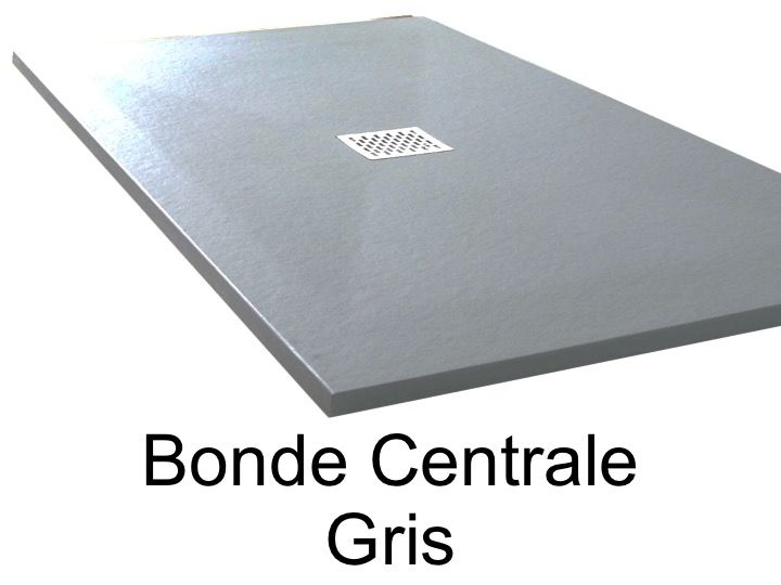 receveurs de douches longueur 170 receveur de douche 170 cm en r sine bonde centrale gris. Black Bedroom Furniture Sets. Home Design Ideas