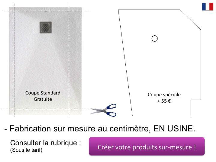 receveurs de douches longueur 185 receveur de douche en r sine sur mesure 185 cm petite. Black Bedroom Furniture Sets. Home Design Ideas