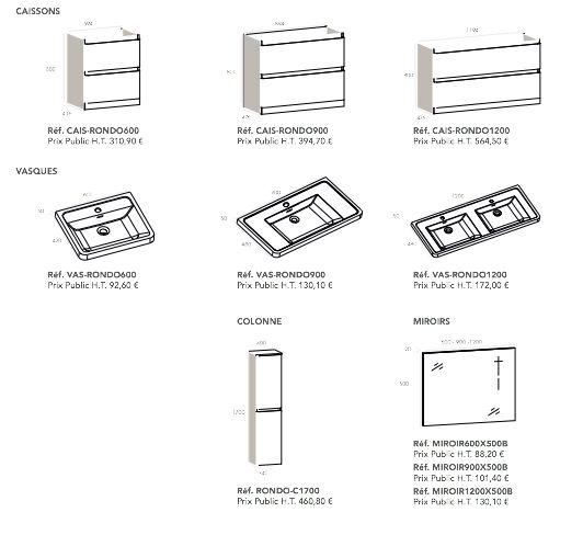 Meubles lave mains robinetteries meuble sdb meuble for Double vasque salle de bain 90 cm