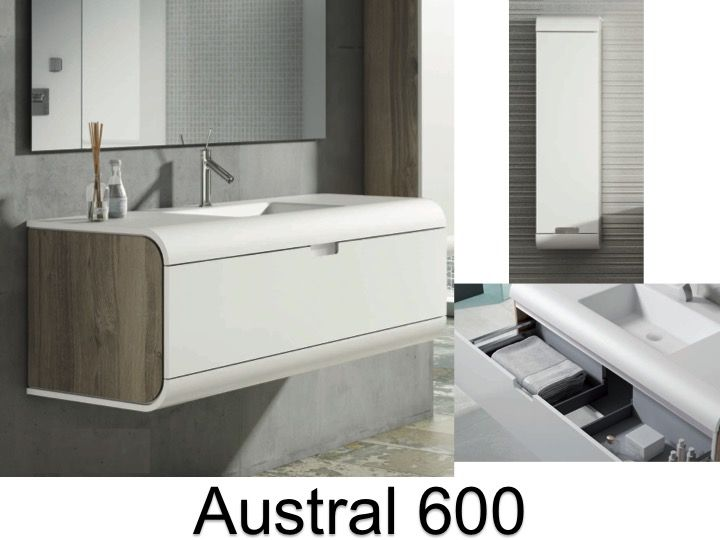 meubles lave mains robinetteries meuble teck meuble de salle de bain suspendu 60 cm blanc. Black Bedroom Furniture Sets. Home Design Ideas