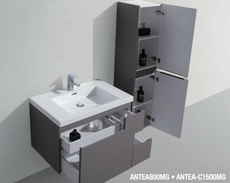 Meuble salle de bain en 100 cm suspendu avec trois tiroirs antea 1000 - Meuble de salle de bain en 100 cm ...