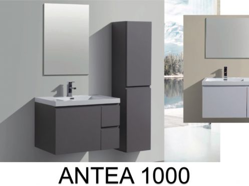 meubles lave mains robinetteries meuble teck meuble salle de bain en 100 cm suspendu avec. Black Bedroom Furniture Sets. Home Design Ideas