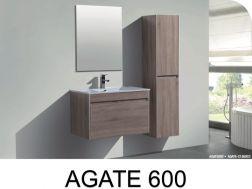 p 333239 4 meuble de salle de bains a suspendre 60 cm avec vasque et miroir   agate 600 Résultat Supérieur 15 Impressionnant Meuble Lavabo Suspendu Image 2018 Kdj5