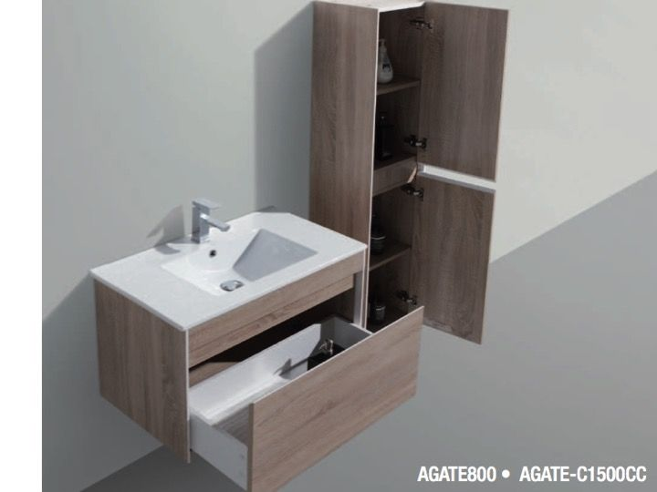 meubles lave mains robinetteries meuble teck meuble de salle de bains suspendre 60 cm. Black Bedroom Furniture Sets. Home Design Ideas