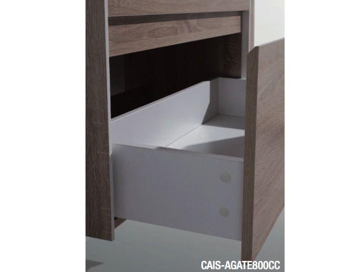 meubles lave mains robinetteries meuble teck meuble de salle de bains suspendre 80 cm. Black Bedroom Furniture Sets. Home Design Ideas