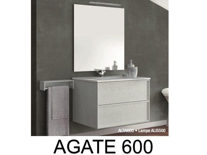 meubles lave mains robinetteries meuble teck meuble de salle de bains suspendre de 60 cm. Black Bedroom Furniture Sets. Home Design Ideas