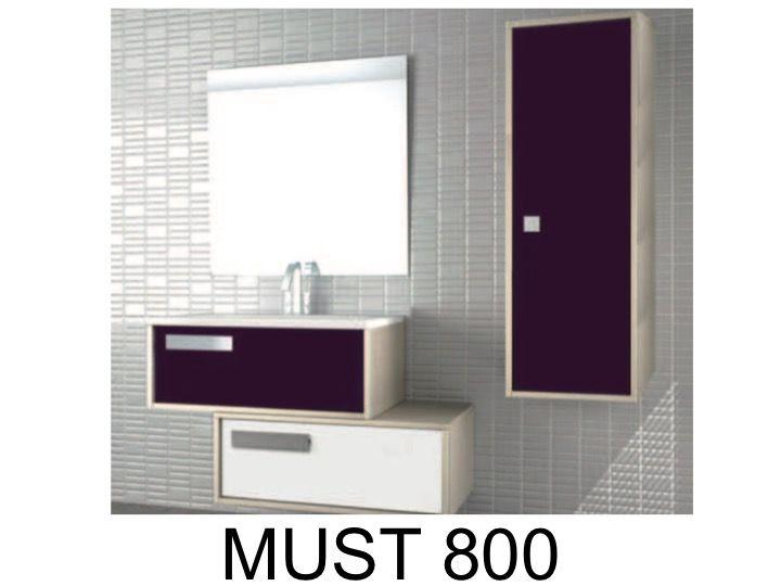 finest meuble de salle de bains suspendre deux lements de. Black Bedroom Furniture Sets. Home Design Ideas