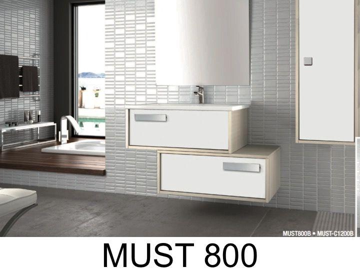meuble de salle de bains suspendre deux lements de 80 cm de large poser en d cal s avec. Black Bedroom Furniture Sets. Home Design Ideas