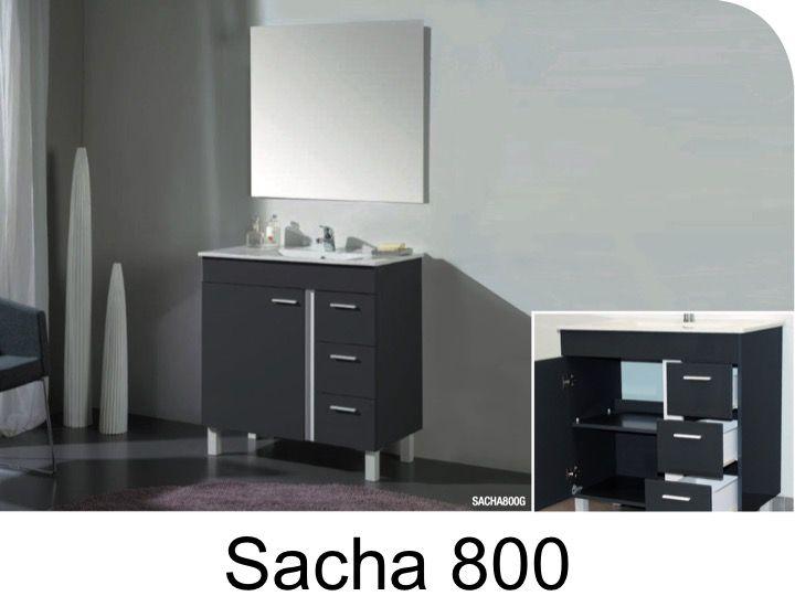 p 333293 3 meuble de salle de bains a poser sur pieds de 80 cm avec vasque et miroir   sacha 800 Résultat Supérieur 15 Unique Meuble sous Vasque Avec Pied Image 2018 Uqw1