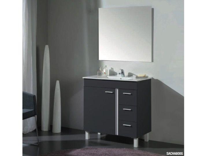 meuble de salle de bains poser sur pieds de 80 cm avec - Meuble Sous Vasque A Poser
