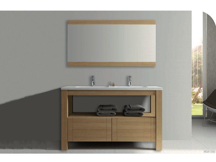 meuble salle de bain en bois 120 cm