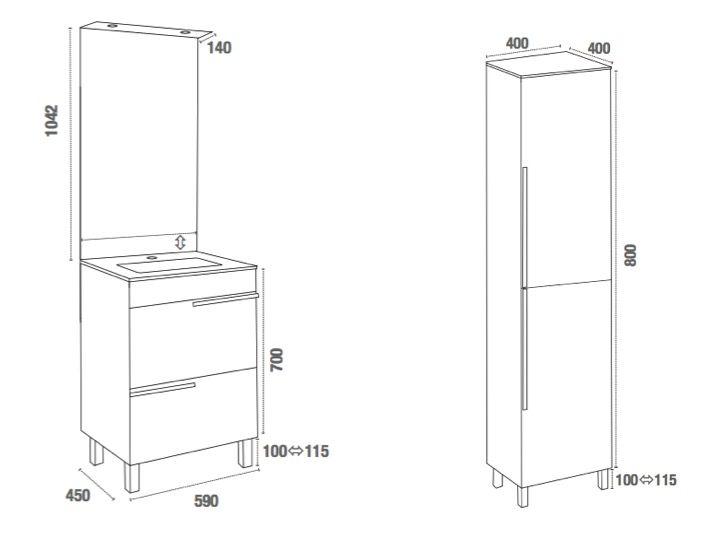 meubles lave mains robinetteries meuble teck meuble de salle de bains poser sur pieds. Black Bedroom Furniture Sets. Home Design Ideas