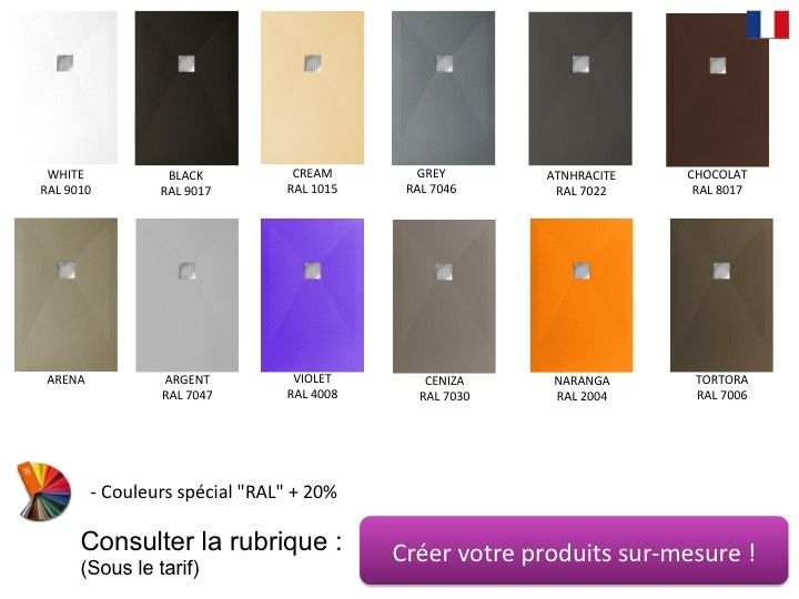 receveurs de douches longueur 120 receveur de douche 120 cm en r sine min ral de marbre petit. Black Bedroom Furniture Sets. Home Design Ideas
