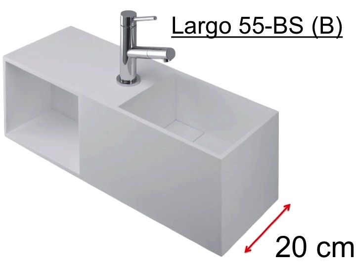 meubles lave mains robinetteries lave mains lave mains meuble deluxe 20 cm en solid surface. Black Bedroom Furniture Sets. Home Design Ideas