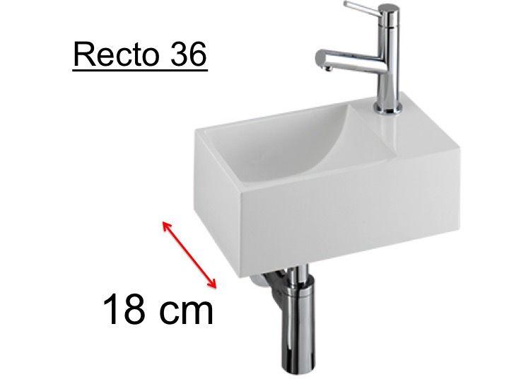 meubles lave mains robinetteries lave mains lave mains wc en c ramique profondeur 18 cm. Black Bedroom Furniture Sets. Home Design Ideas