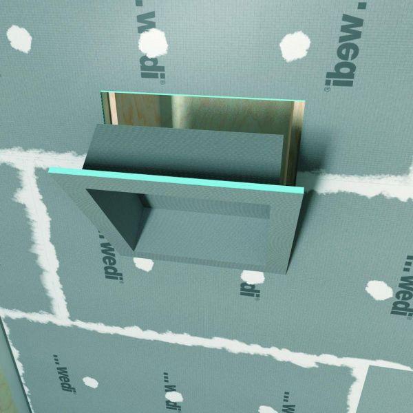 niches de douche rectangulaire carreler wedi 30 x 60. Black Bedroom Furniture Sets. Home Design Ideas