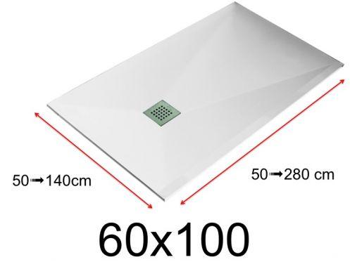 receveurs de douches toutes tailles receveur de douche 60x100 cm 600x1000 mm en r sine. Black Bedroom Furniture Sets. Home Design Ideas