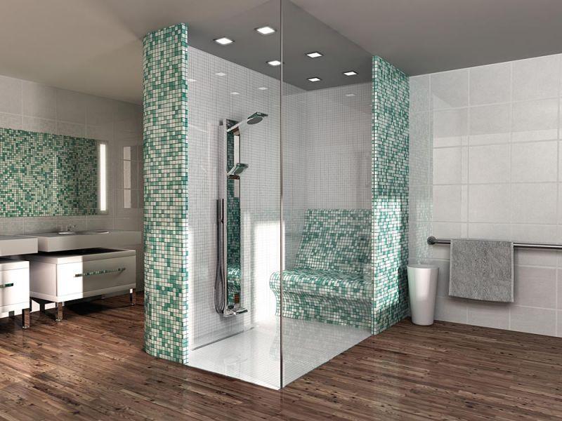 receveur de douche caniveau carreler de forme carr. Black Bedroom Furniture Sets. Home Design Ideas