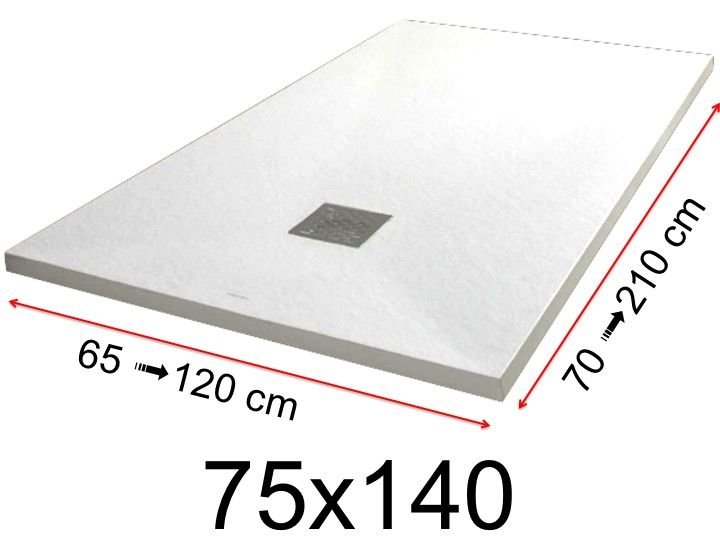 receveur de douche 75×140
