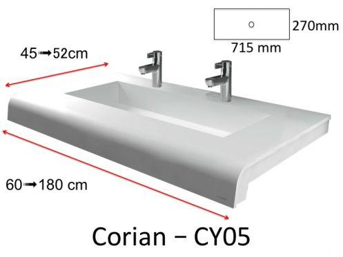 plan vasque solid surface r sine min rale type corian puzzle acrymold cy05 xl blanc. Black Bedroom Furniture Sets. Home Design Ideas
