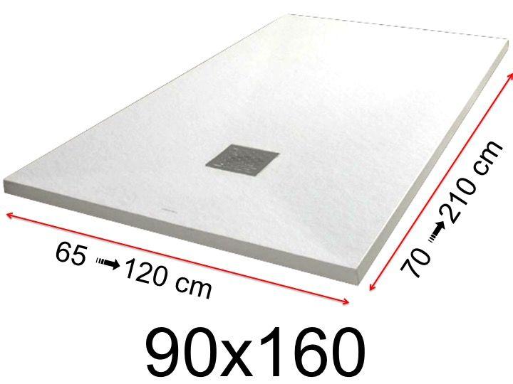 Receveur De Douche 90x160 Cm 900x1600 Mm En Resine Minerale