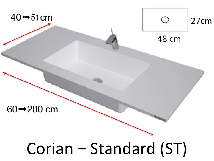 plan toilette avec vasque int gr e type corian en r sine. Black Bedroom Furniture Sets. Home Design Ideas