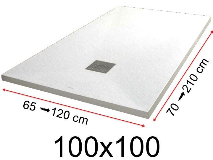 receveur de douche extra plat 100 x 100